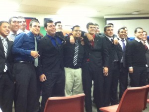 Newest pledge class and some brothers on Pinning Night